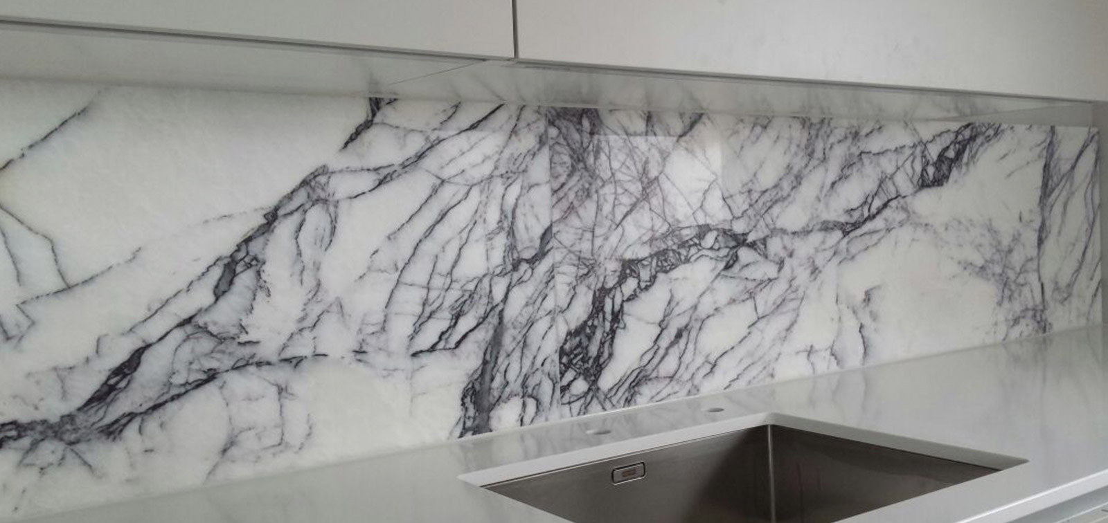 Bespoke marble kitchen splashbacks