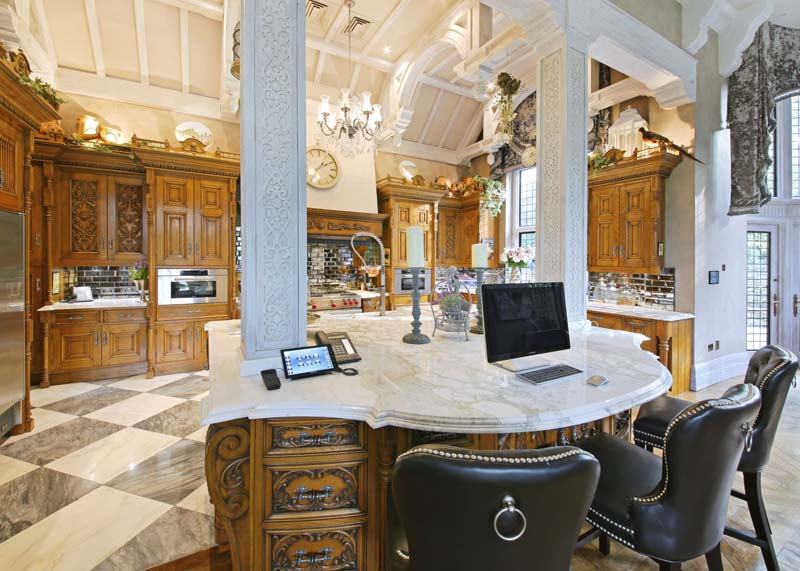 Calacatta Oro Worktops in stunning residential kitchen