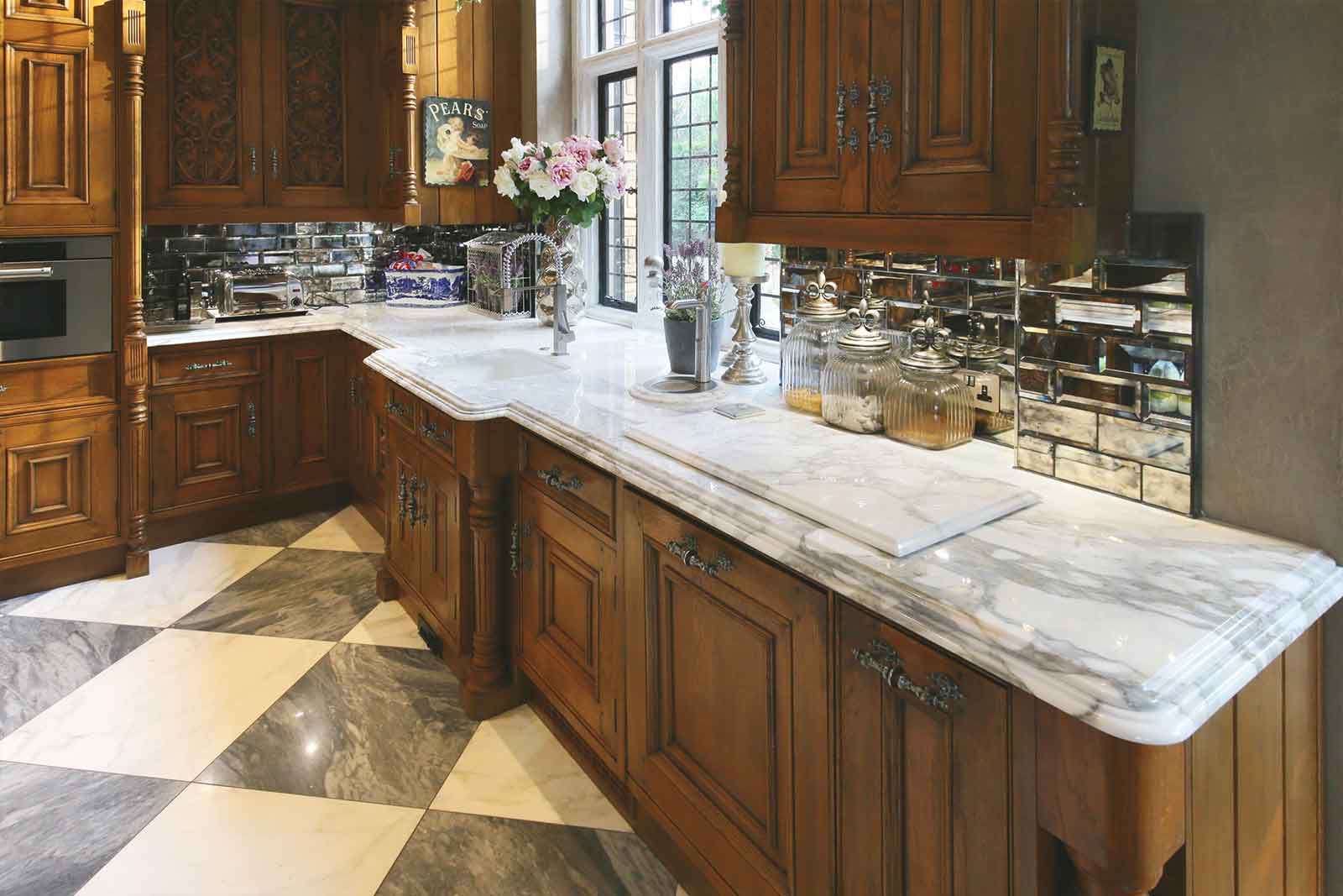 elegant traditional kitchen stone of london
